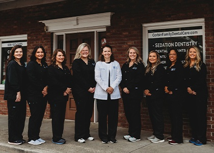 Corbin Family Dental Care team