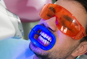 Man receiving Zoom teeth whitening